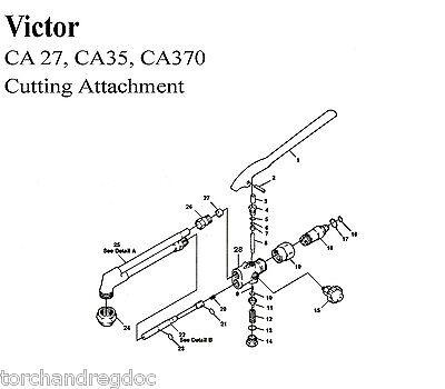 Victor Ca27 Ca35 Ca370 Cutting Torch Basic Rebuild Repair Kit