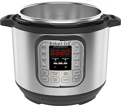 Instant Pot Duo 7-in-1 Electric Pressure Cooker, 6 Qt, 5.7 Litre, 1000 W