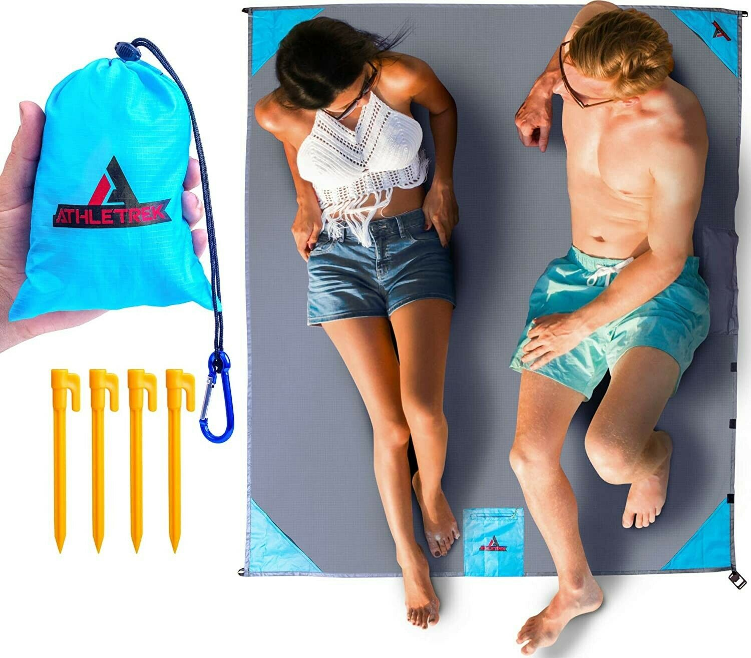 Beach Picnic Pocket Blanket Water & Sand Proof for Travel Ca