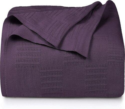Premium Cotton Weaved Blanket King Queen Twin Utopia Bedding