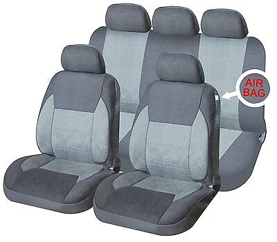 Universal Car Seat Covers Full Set Navy Design Washable Airbag Compatible