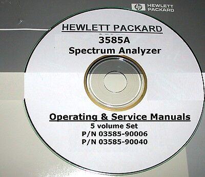 Hewlett Packard Ops Service Manual Set5-volumes For 3585a Spectrum Analyzer