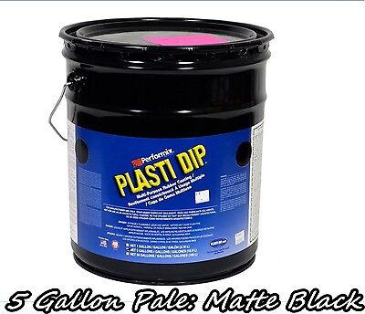 Plasti Dip Matte Black 5 Gallon Pale Bucket Ready To Spray Rubber Dip Spray