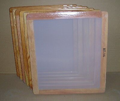 Screen Printing Frames--box Of 6--18 X 20 Wood With 110 White Mesh