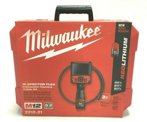 Milwaukee M12 2315-21 M-Spector 3 Ft. Flex Inspection Camera Cable Kit