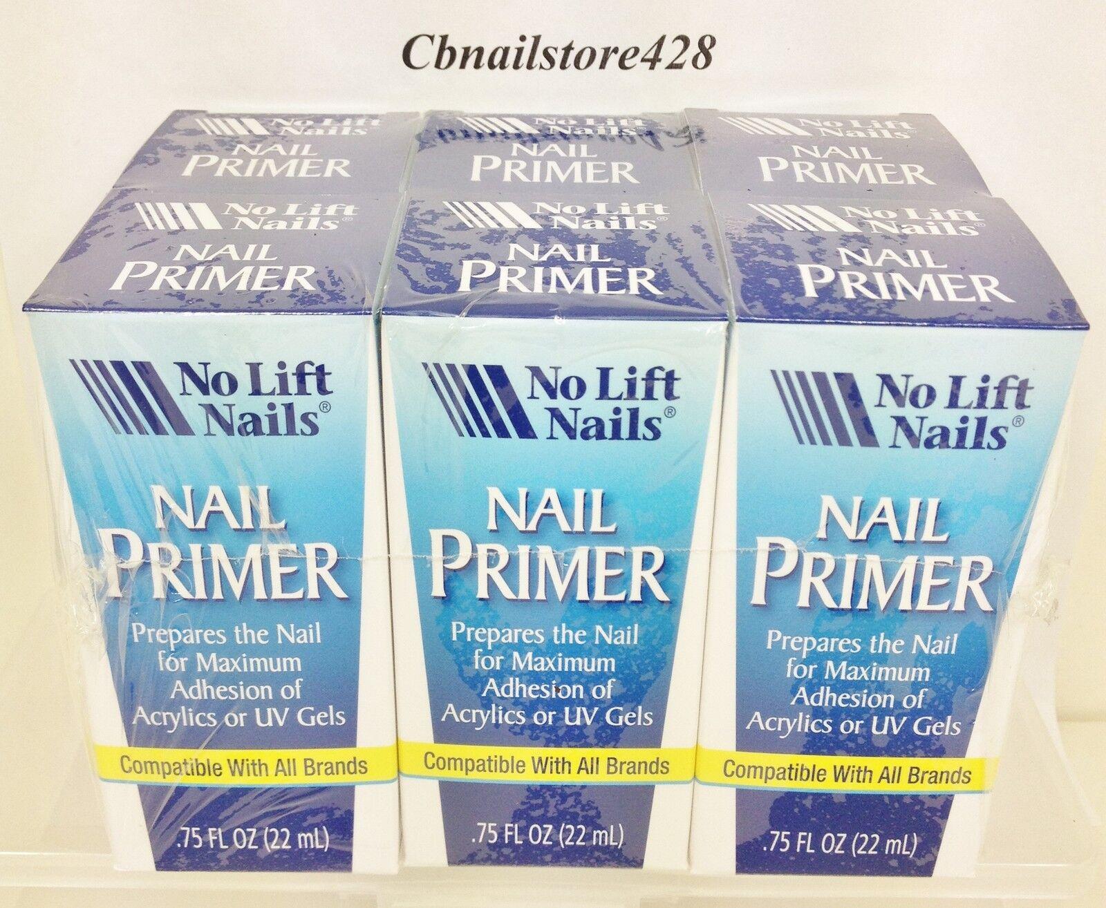 No Lift Nails - Acrylic Nail Primer - Made In Usa - 0.75oz/22ml X Lot Of 6
