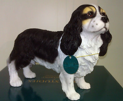 Large Dog Studies by Leonardo Cavalier King Charles Spaniel Figurine Ornament