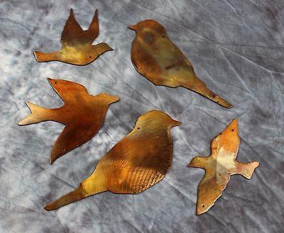 5 Birds Metal Wall Art Decor    Copper/Bronze