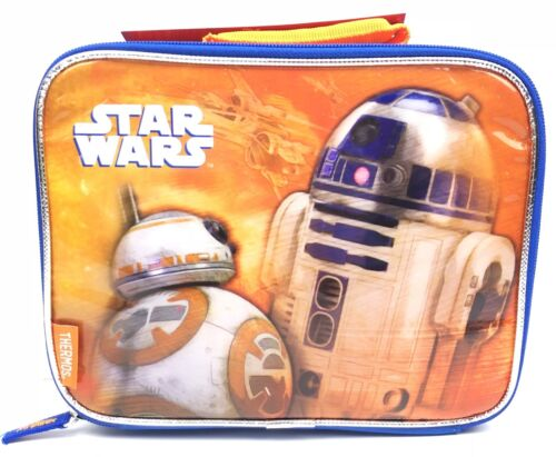 Star Wars Disney Thermos Zip Close Soft Insulated Lunch Box,