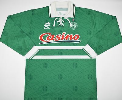 1994-1995 SAINT ETIENNE LOTTO HOME FOOTBALL SHIRT (SIZE L) image