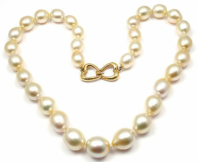 Rare! Authentic Andrew Clunn 18k Yellow Gold Golden Tahitian Pearl Necklace