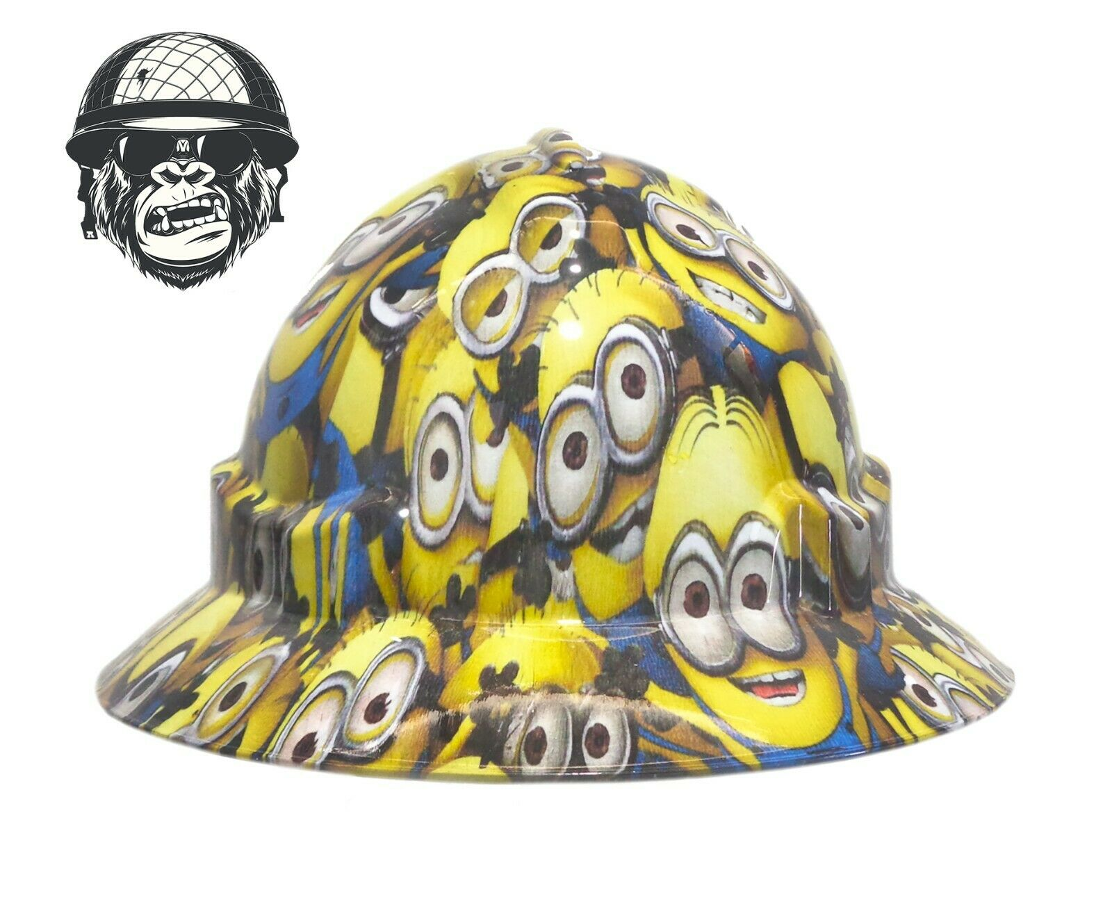 Custom Hydrographic Safety Hard Hat Mining Industrial PPE - MINIONS WIDE