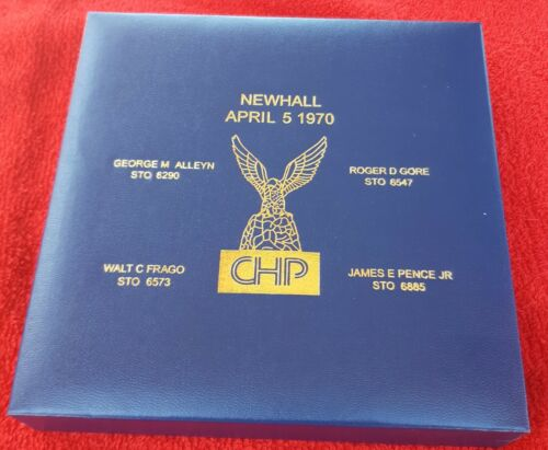 CALIFORNIA HIGHWAY PATROL OFFICER MEMORIAL COIN NEWHALL INCIDENT (LAPD NYPD CHP