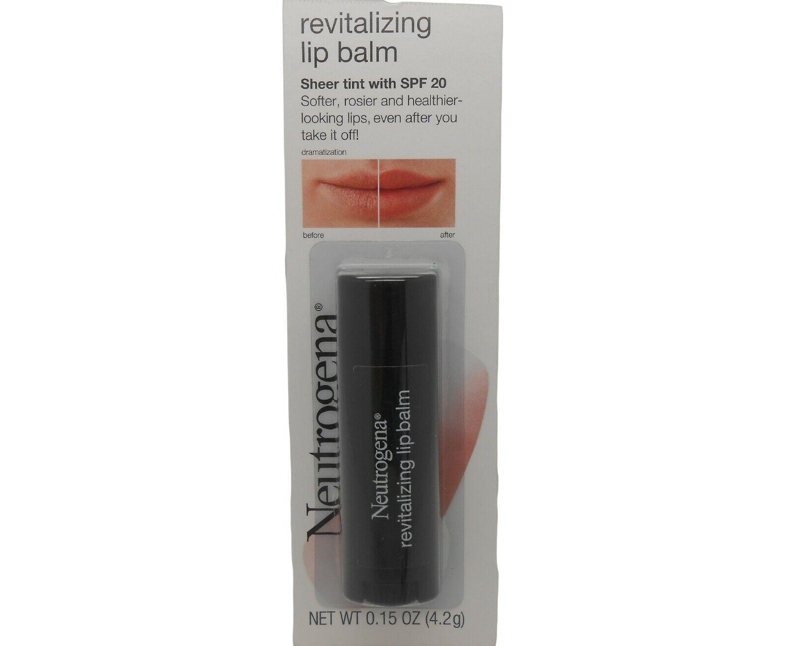 Neutrogena Revitalizing Lip Balm Spf 20, Petal Glow 40, .15