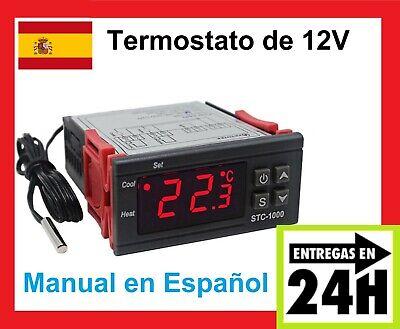 Termostato Digital 12v MANUAL ESPAÑOL terrario incubadora controlador STC 1000
