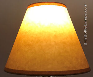Rustic Cottage Table Light LAMP SHADE Oil Kraft Clip On Bulb Style 9