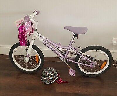 Girls Silver Fox Flutter Bike And Assessories