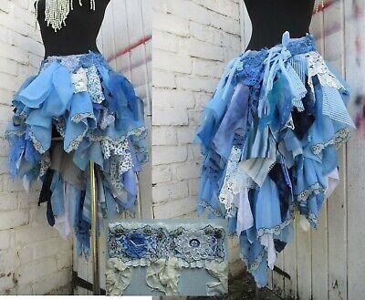 Handmade Blue Alice in Wonderland costume skirt & wrist cuffs Cosplay Steampunk - Steampunk Alice In Wonderland Costume