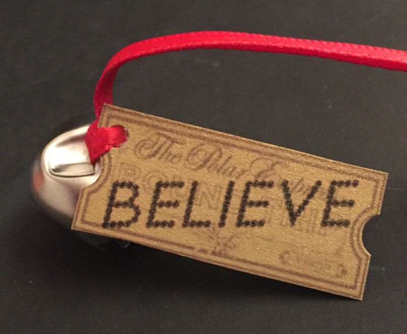 CUSTOM Christmas Ornament Inspired by The Polar Express Bell & Believe Ticket