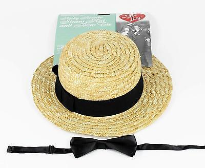 I Love Lucy - Ricky Ricardo Straw Hat and Bow Tie Set - Lucy And Ricky Ricardo