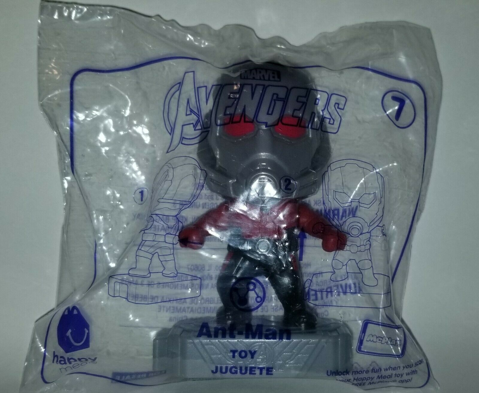Avengers (2019) McDonalds Happy Meal Toys- Fast Shipping! #7 Ant Man