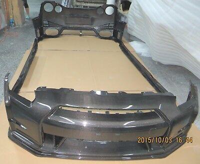 Real Carbon fiber bumper full body kit fit for Nissan 08-15 GT-R GTR R35 Nismo