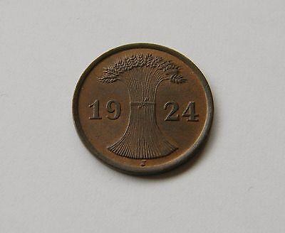 WEIMAR: 2 Rentenpfennig 1924 J, J. 307, stempelglanz, FEINER PRÄGEGLANZ !!!