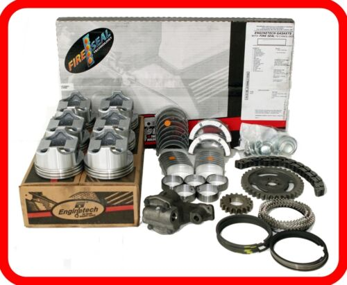 Engine Rebuild Overhaul Kit Fits: 1968-1985 Ford 300 4.9l Ohv Straight-6