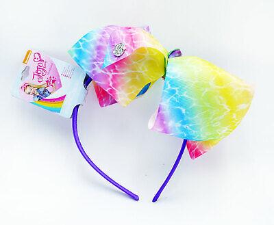 Jojo Siwa Rainbow Girls Hair Headband & Bow Alice Band Hair Accessories