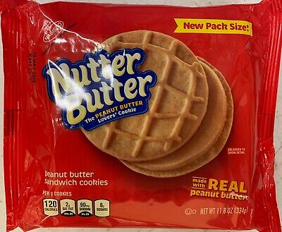 NEW NABISCO NUTTER BUTTER PEANUT BUTTER SANDWICH COOKIES 11.8 OZ PACK FREE SHIP ()