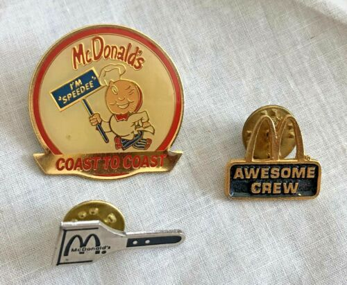 3 McDonalds Old Style Pins