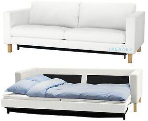 IKEA Karlstad Sofabed Cover Sofa Bed Sleeper Slipcover Blekinge White New NIP