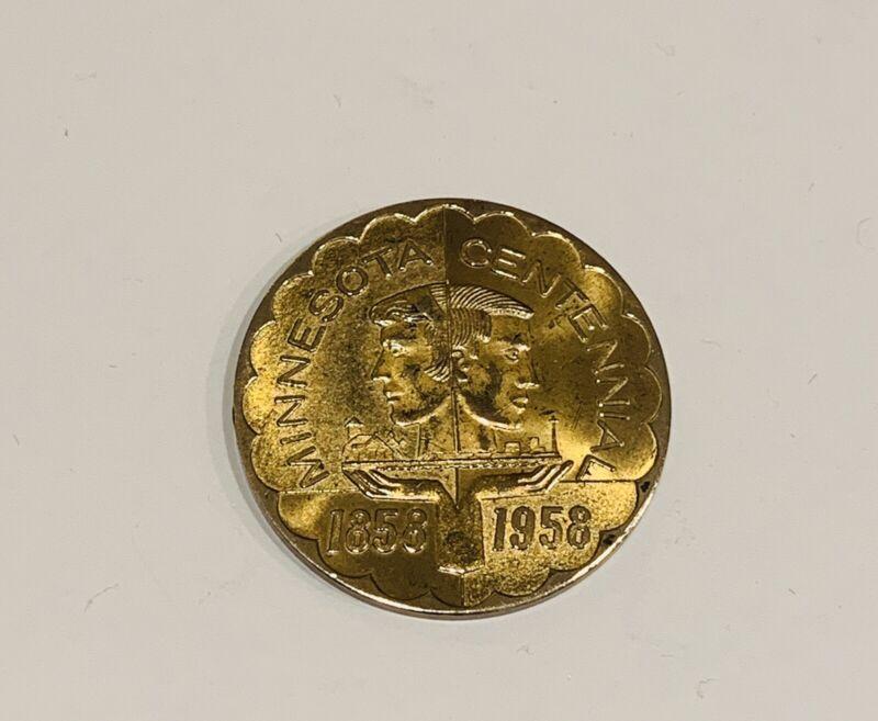 Minnesota Centennial 1858 1958 Souvenir Money Good For 50¢