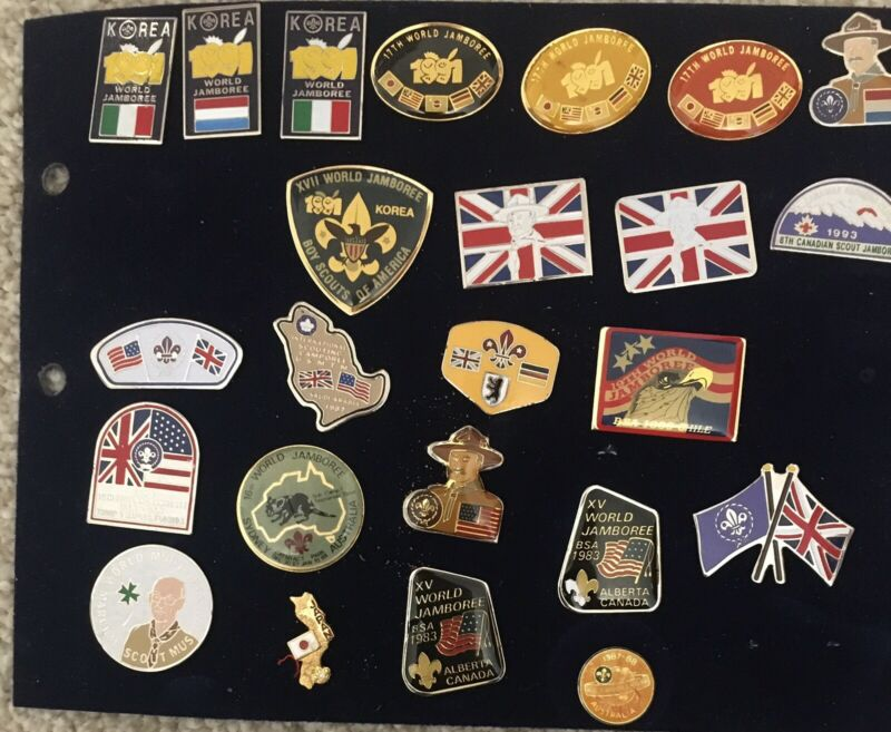 Boy Scout Lot Of 24 Pins Mostly WORLD SCOUT JAMBOREE