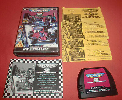 Megadrive 1 & 2 Micro Machines 2 Turbo Tournament [PAL] Sega *JRF*