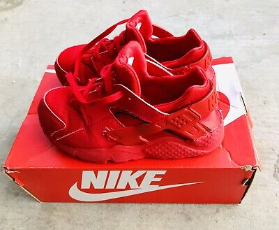 Nike Youth KIDS US Size 2.5Y 704949 600 RED Huarache Running Shoe Sneakers NICE