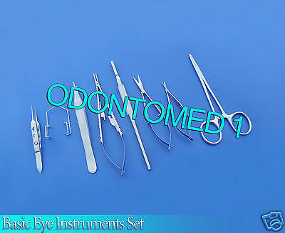 8 Pc O.r Grade Basic Eye Veterinary Micro Surgical Ophthalmic Instruments Kit 1