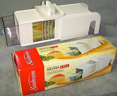 New in Box•Sunbeam•More Than A Grater•4 Piece•Grate/Slice/Shred/Chop•Model 63025