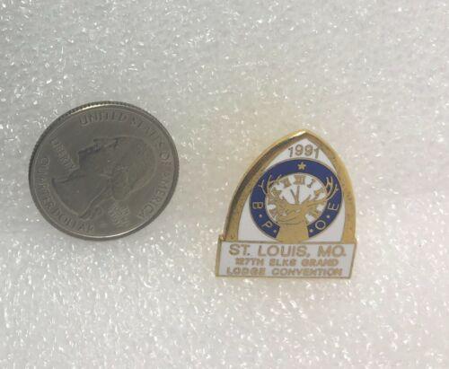 1991 Elks 127th Elk Lodge Grand Convention St Louis Missouri Pin
