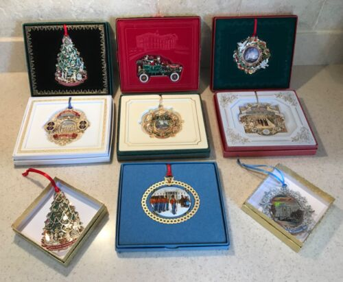 White House Historical Association Ornaments - Lot of 9