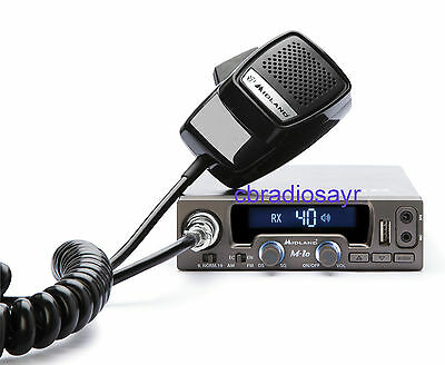 Midland Alan M10 Multimedia 12 Volt CB Radio with USB/Bluetooth Options