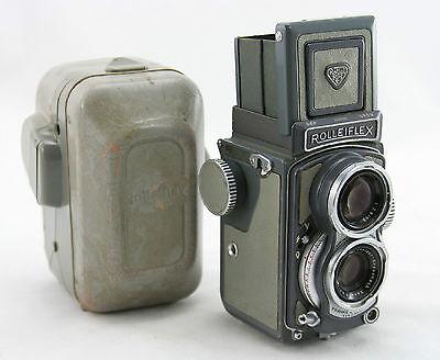 Rollei Rolleiflex Gray Baby, vintage TLR 4x4 camera, lens Schneider Xenar 3.5/60