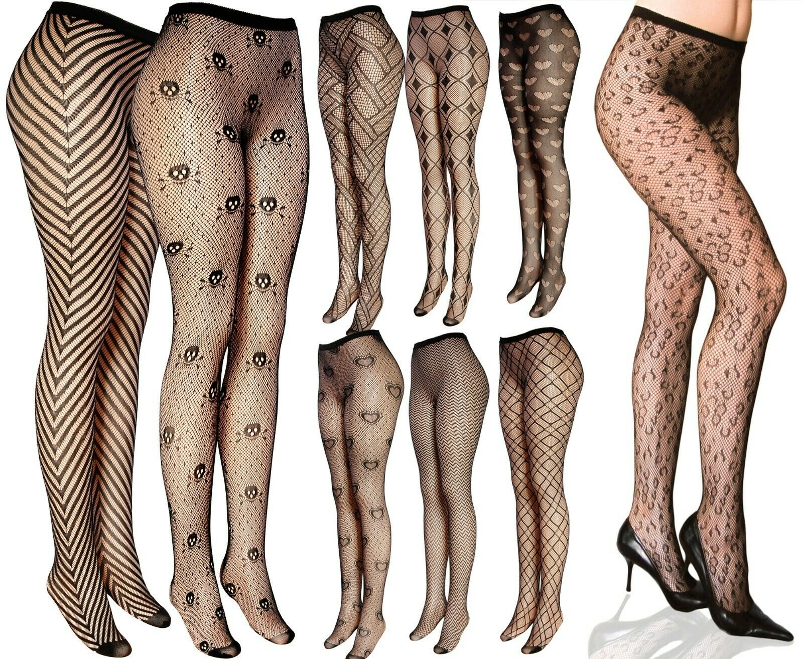 Sexy Multi Pattern Fishnet Pantyhose Clothing, Shoes & Accessories