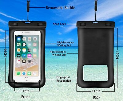 """Waterproof Room Phone Pouch Touch ID Recognition for Smartphone up to 6.5"""""""