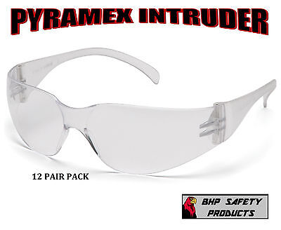 PYRAMEX INTRUDER SAFETY GLASS CLEAR LENS 12 PAIR PACK S4110S on Rummage