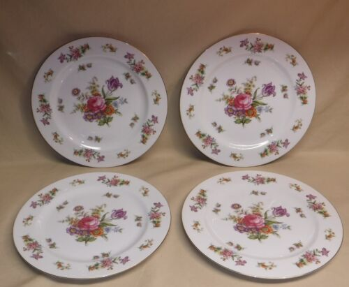"""1954 Harmony House  ~ Dresdania ~ 10"""" Dinner Plates ~ 4pc ~ Excellent!!"""