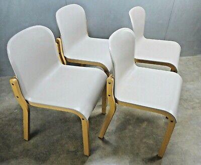 Italian Reguitti Chair Designer Vintage White Vinyl Plastic Chair Mid Century Modern Italy