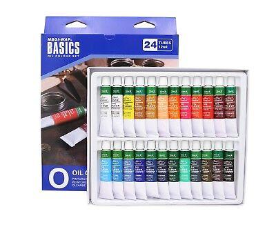 Ölfarben Set mit 24 Tuben je 12ml, 24 Farben original Magi® feine Künstlerfarbe