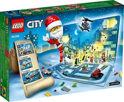 LEGO City Advent Calendar 60268, With City Play Mat, Best Festive Toys for Kids