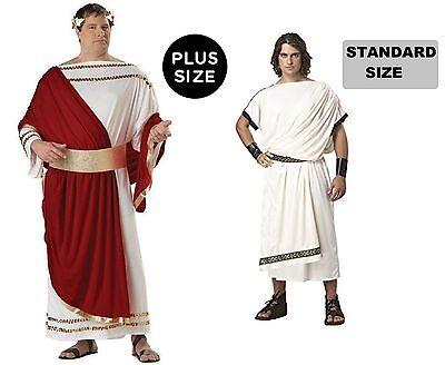 Deluxe Classic Toga or Julius Caesar mens plus size Greek Roman adult Costume  (Toga Roman Or Greek)